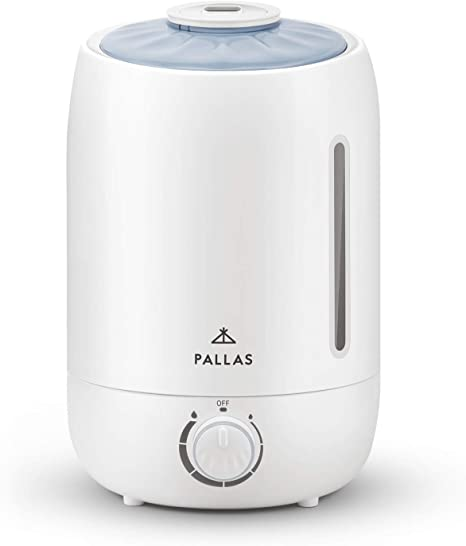 Pallas 2019 Humidifier 5L Cool Mist Ultrasonic Humidifier for Bedroom, Baby, Home, Vaporizer for Large Room with Adjustable Mist Knob 360 Rotatable